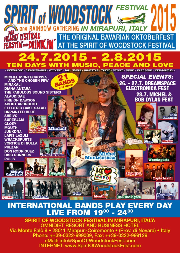 Spirit of Woodstock Festival Poster 2015