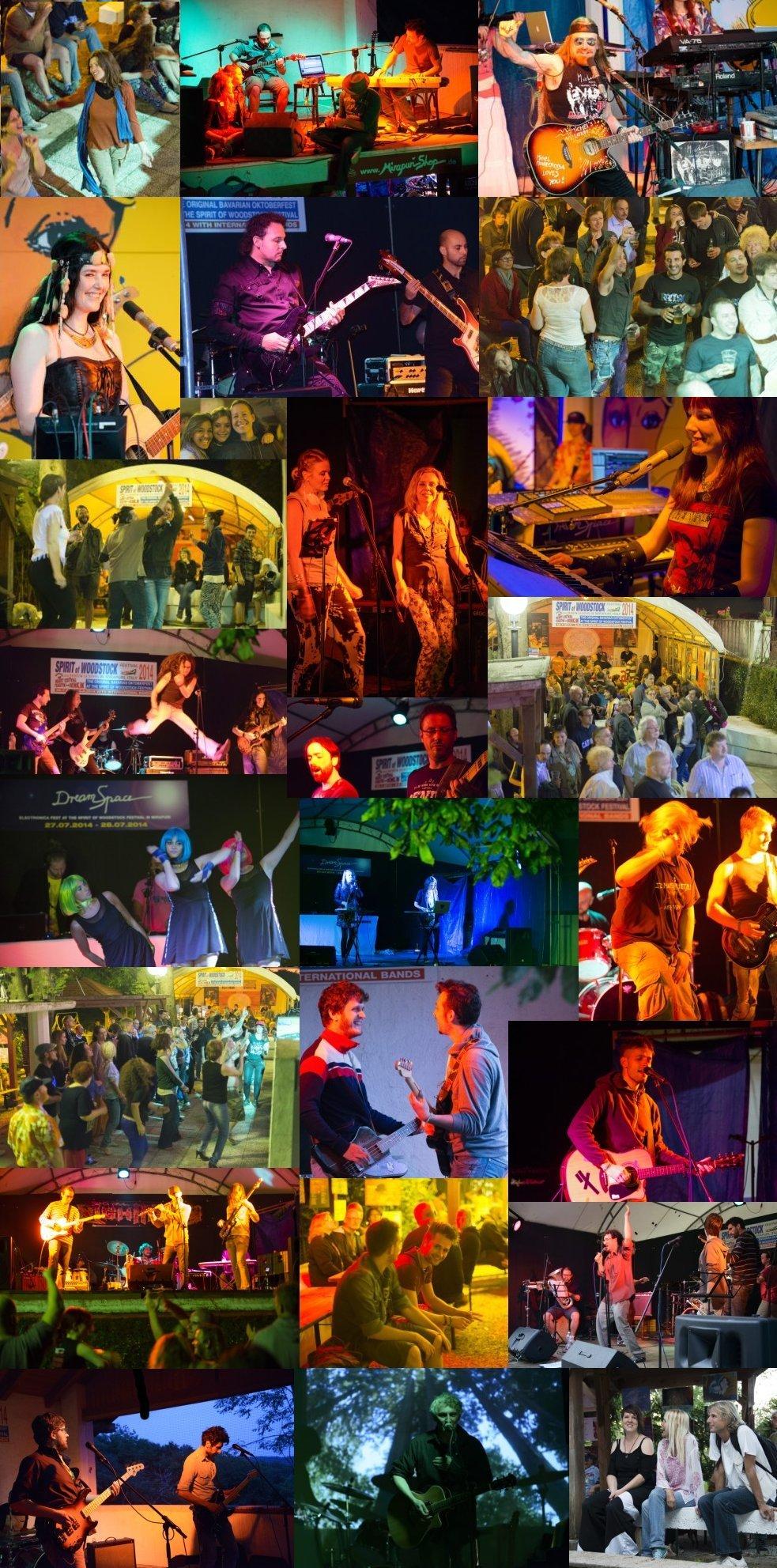 Spirit of Woodstock Festival 2014 Collage